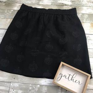 LOFT Black lightly printed Skater Skirt